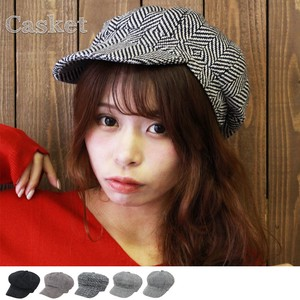 Casquette Houndstooth Pattern CORDUROY Hats & Cap Cap Tweed Hats & Cap Fancy Goods