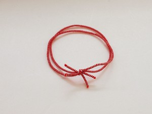 Color Rubber Double Knot Red And White 100 Pcs