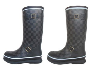 A/W Ladies Houndstooth Pattern Rain Boots