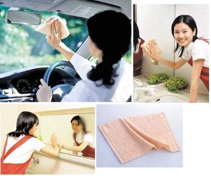 Front Glass Mirror Towel 2 Pcs