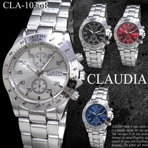 CLAUDIA Wrist Watch Number for Men Metal Band Watch