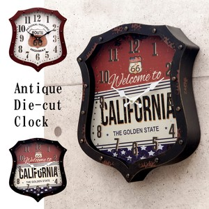 Antique Die Cut Clock