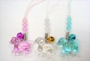 Good Luck Color Transparency Front Beads Cell Phone Charm Assort