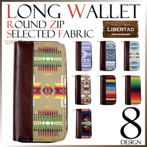 Native Wallet Fabric Long Wallet Unisex Coast American