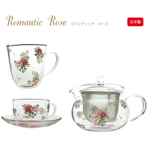 Romantic Rose Heat-Resistant Glass Plates & Utensil