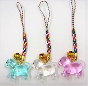 Good Luck Color Transparency Front Cell Phone Charm 3 Colors Assort