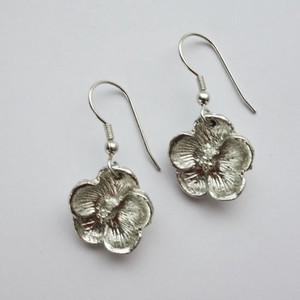 Real Flower Pierced Earring Silver Post Glass Lucky Bag