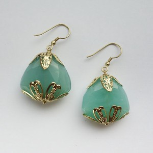 Poth Tone Pierced Earring Green Post Post Lucky Bag