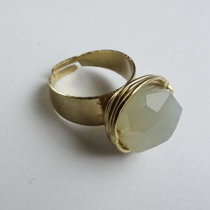 Natural Stone Ring Green Base Glass Lucky Bag