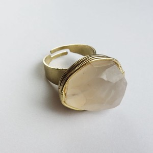 Natural Stone Ring Pink Base Glass Lucky Bag