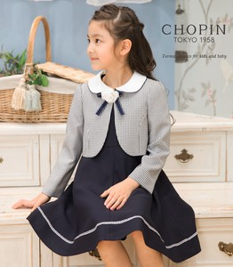 Girl Admission Gingham Check Navy Ensemble