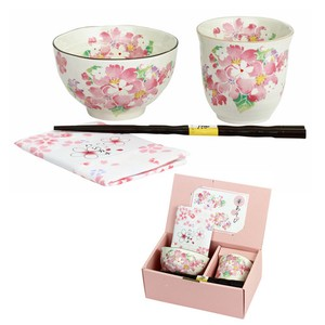 Mino Ware Gift Play Rice Bowl Japanese Tea Cup Handkerchief