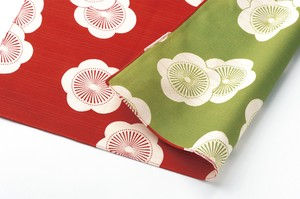 """Furoshiki"" Japanese Traditional Wrapping Cloth Ume Red Green"