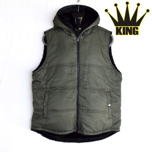 Twill Reversible With Hood Vest