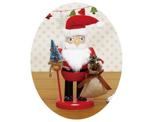 Nuts Cracker Objects Red Santa Ornament