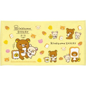 Rilakkuma Bathing Towel Rack Bakery Items
