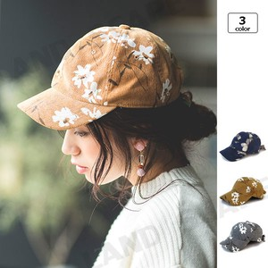 CORDUROY Flower Bag Ribbon Cap