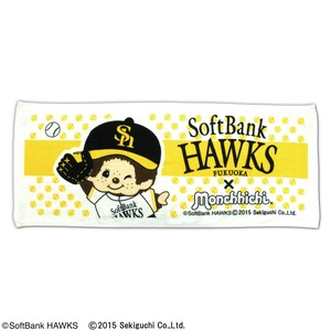 soft Bank Hawks monchhichi Face Towel
