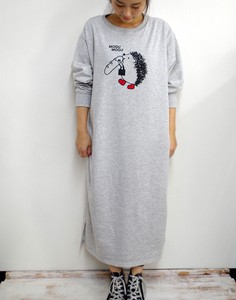 Fleece Long One Piece Hedgehog