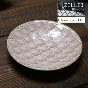 Jelly Plate Pink Mino Ware