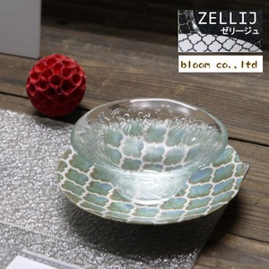 Jelly Glass Saucer Glass Plate Mino Ware Plate
