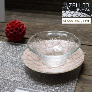 Jelly Glass Saucer Pink Glass Plate Mino Ware Plate