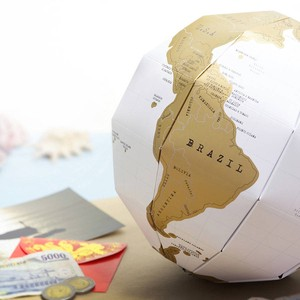 American SCRACH Glove Globe Map Map Interior Ornament