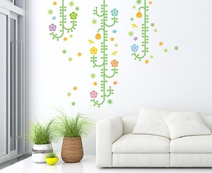 Print Large Format Wall Sticker Plant Insect Basic Green Plant Kids