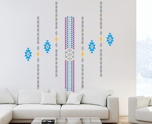 Print Large Format Wall Sticker Tribal Basic Graphic Pattern Interior