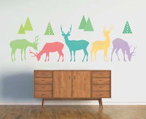 Print Large Format Wall Sticker Basic Animal Scandinavia Interior
