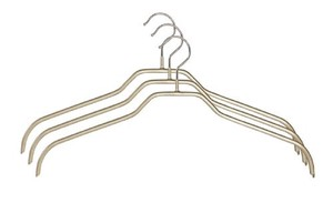 Ladies Clothes Hanger Set Of 3 Gold