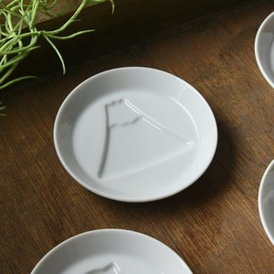 Play 8.2 cm White Porcelain Plate for Soy Sauce Mt. Fuji MINO Ware