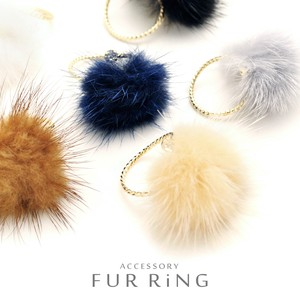 Mink Fur Fork Ring Ring Everyday A Little Special