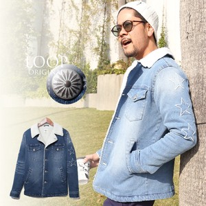 Men's Star Affix Denim Lunch Coat