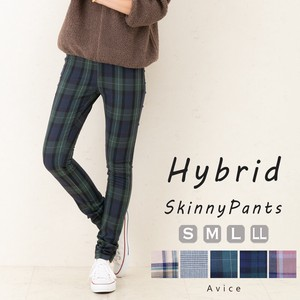 Skinny Pants Checkered Beautiful Legs A/W Black Watch