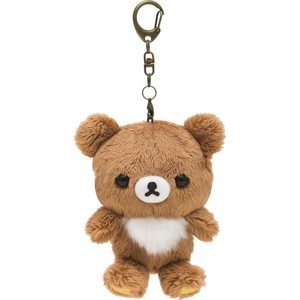 Rilakkuma Soft Toy Key Ring Brown
