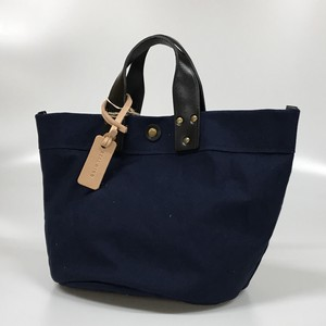 Hand Canvas Spain Leather Cow Leather Navy