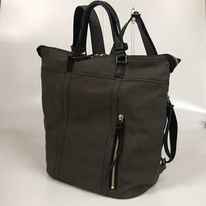 Backpack Canvas Cow Leather