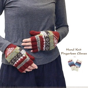 Hand Knitting Glove Finger Free soft Wool Weaving Pattern Nordic