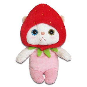 Cat Strawberry Soft Toy Size M