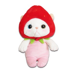 Cat Strawberry Soft Toy Size S