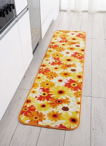 Fluffy Gigging Kitchen Mat Gerbera