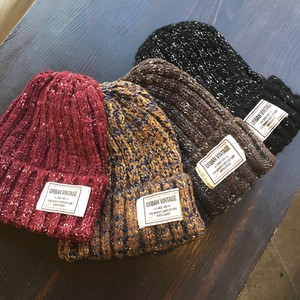 Feeling Funwari Material Mix Color Knitted Hat Knitted Cap
