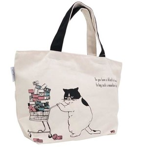 Canvas Bag cat Shopping