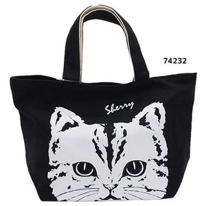 Face Canvas Bag Black