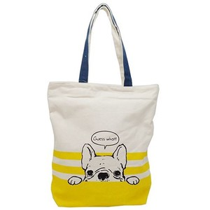 Hufuchan Peeping Zipper Top Canvas Tote