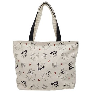 Hufuchan Zipper Top Horizontal Canvas Tote Flyer