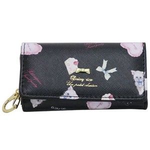 DAISY Synthetic Leather Key Case Black