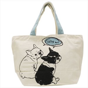 Hufuchan Zipper Top Canvas Tote Friends