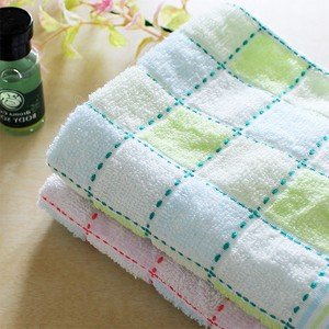 Face Towel Needlework Checkered